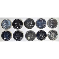 1955-64 PROOF HALF DOLLARS