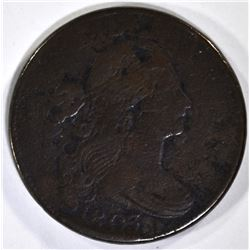 1803 LARGE CENT VF porosity, large rim cud