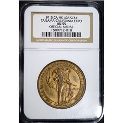 1915 CA HK-428 SO CALLED DOLLAR, NGC AU-55