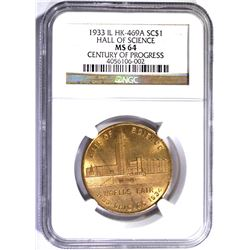 1933 IL HK-469A SO CALLED DOLLAR, NGC MS-64
