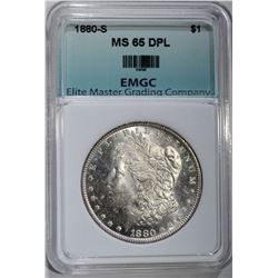 1880-S MORGAN DOLLAR EMGC GEM BU