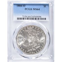 1884-O MORGAN DOLLAR, PCGS MS-64