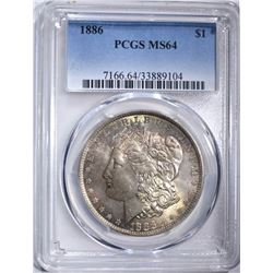 1886 MORGAN DOLLAR PCGS