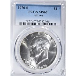 1976-S SILVER EISENHOWER DOLLAR PCGS MS-67