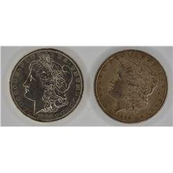 1884-O & 1890 CH BU MORGAN DOLLARS