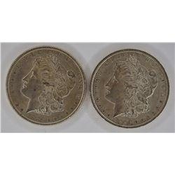 1886 & 1896 CH BU MORGAN DOLLARS