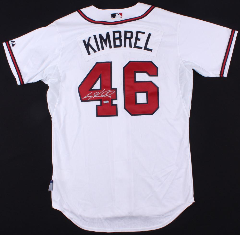 san francisco 58838 cfa9f Craig Kimbrel Signed Braves Jersey (MLB Hologram)