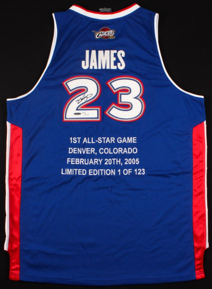 c51d54505255 Image 1   LeBron James Signed LE Cavaliers All-Star East Highlight Stat  Jersey (