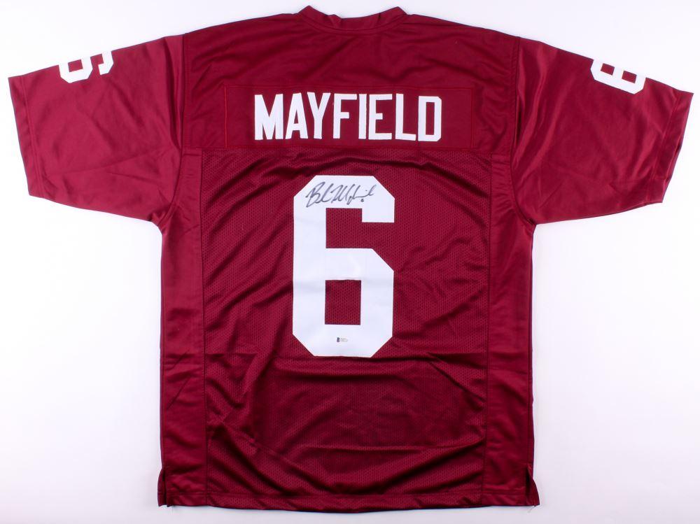 huge selection of 156e9 4a6da Baker Mayfield Signed Oklahoma Sooners Jersey (Beckett COA)