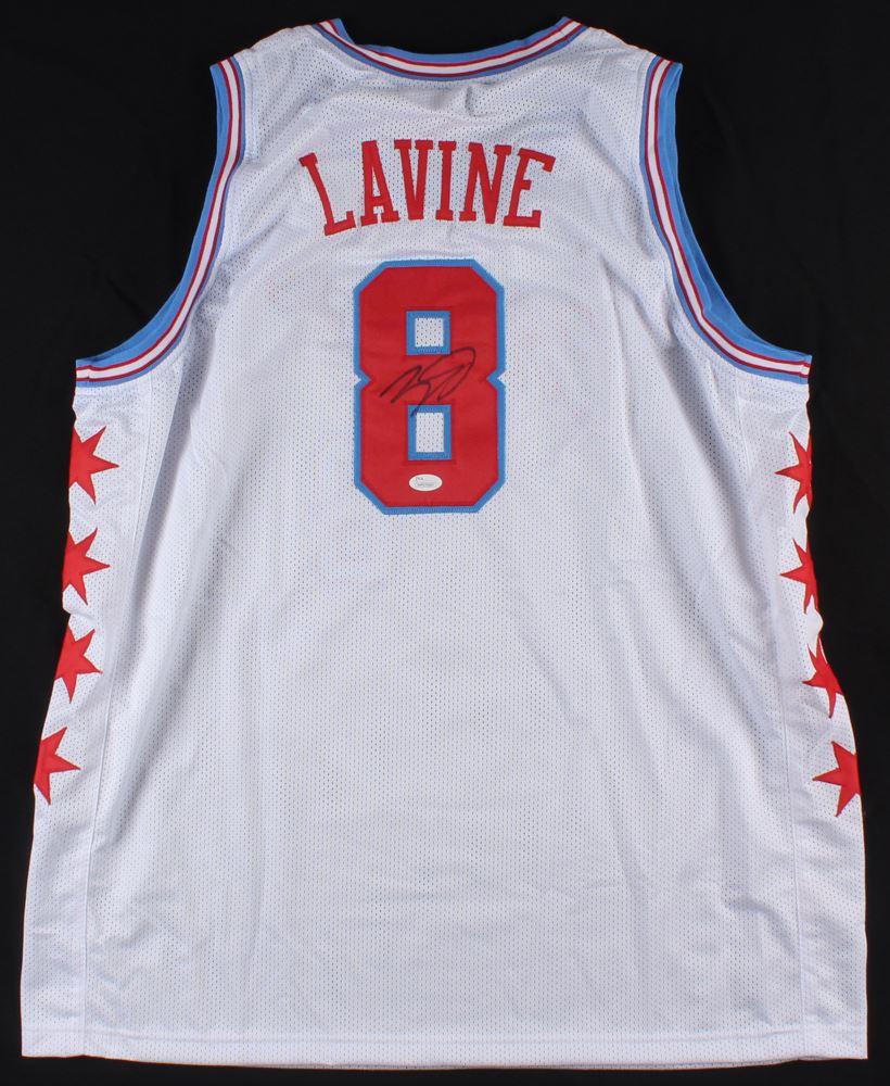 official photos 159a9 59ce6 Zach LaVine Signed Bulls Jersey (JSA COA)
