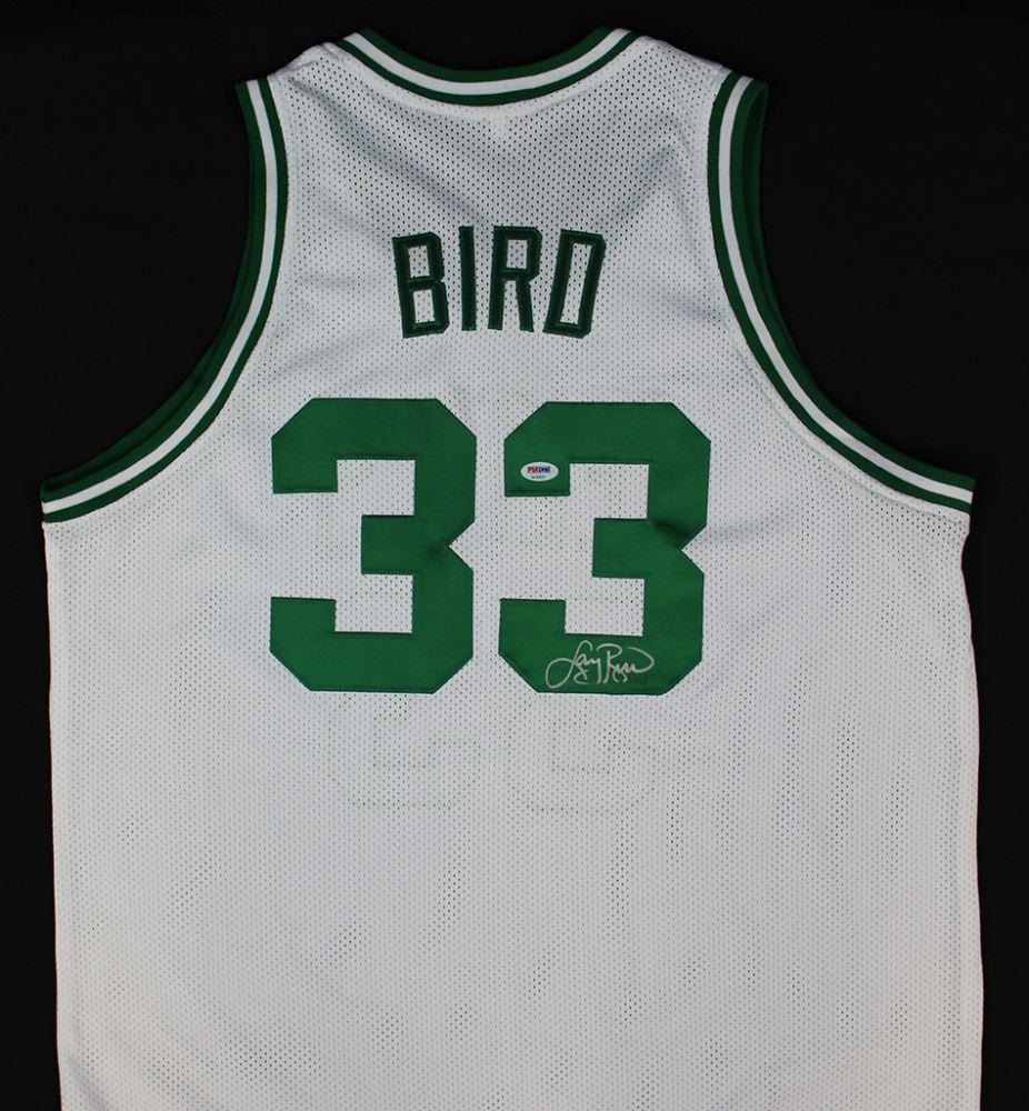 reputable site 0fa77 d5b7d Larry Bird Signed Celtics Jersey (PSA COA)
