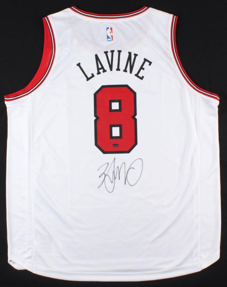 buy online ff1c7 45bb0 Zach LaVine Signed Bulls Jersey Schwartz COA)