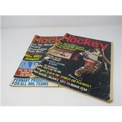 HOCKEY SPORTS EXTRA MAGAZINES, (2 FROM 1972)