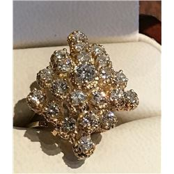 Ladies 18K Yellow Gold Diamond Ring