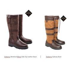 2 Pairs of Dubarry Boots & 2 Tweed Shoot Coats
