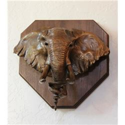Bronze Elephant Candle Holder
