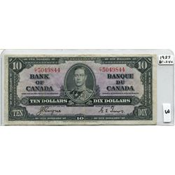1937 BANK OF CANADA (10 DOLLAR NOTE)