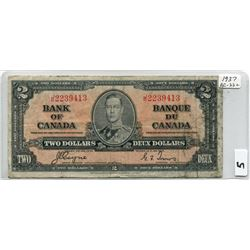 1937 BANK OF CANADA (TWO DOLLAR NOTE)