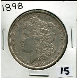 1898 U.S. SILVER DOLLAR *MORGAN*