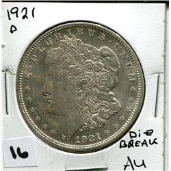 1921 D U.S. SILVER DOLLAR AU *MORGAN*