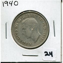 1940 CANADIAN 50 CENT COIN