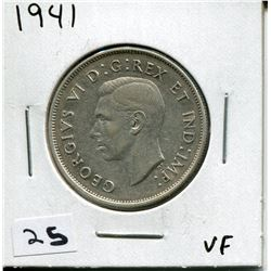 1941 CANADIAN 50 CENT COIN