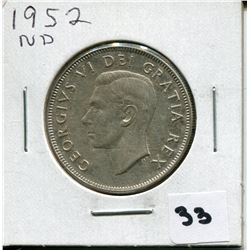 1952 CANADIAN 50 CENT COIN