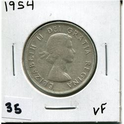 1954 CANADIAN 50 CENT COIN