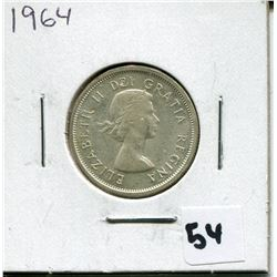 1964 CANADIAN 25 CENT COIN