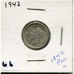 1942 CANADIAN 10 CENT COIN