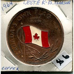 1964 LESTER B PEARSON *COPPER* COMMEMORATIVE COIN