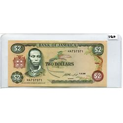 1993 TWO DOLLAR NOTE (BANK OF JAMAICA) *UNC*