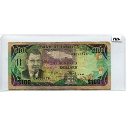 1992 ONE HUNDRED DOLLAR NOTE (BANK OF JAMAICA)