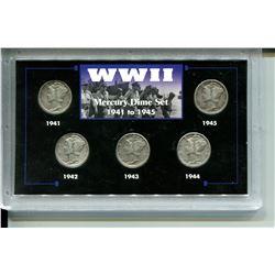 1941-1945  DIME SET (WWII U.S.A. MERCURY)