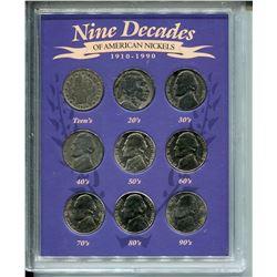 1910-1999 U.S.A NICKELS *NINE DECADES*