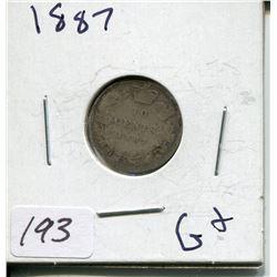 1887 CNDN SILVER DIME