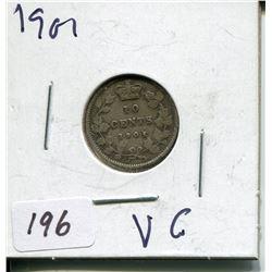 1901 CNDN SILVER DIME