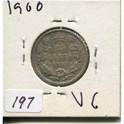 1900 CNDN SILVER QUARTER
