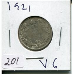 1921 CNDN SILVER QUARTER