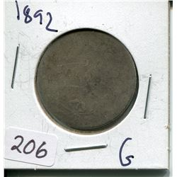 1892 CNDN SILVER 50 CENT PC