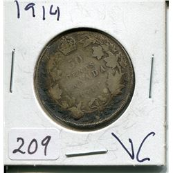 1914 CNDN SILVER 50 CENT PC