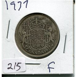 1937 CNDN SILVER 50 CENT PC