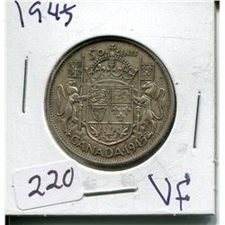 1945 SILVER 50 CENT PC (CNDN)