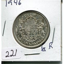 1946 SILVER 50 CENT PC (CNDN)
