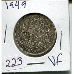 1949 SILVER 50 CENT PC (CNDN)