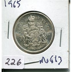 1965 SILVER 50 CENT PC (CNDN)