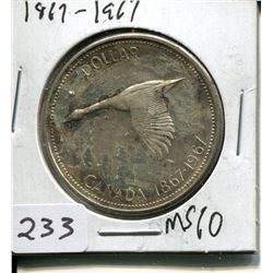 1967 SILVER CONFEDERATION CENTENNIAL DOLLAR (CNDN)