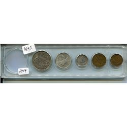 1943 CNDN 5 COINS (PENNY TO 50 CENT PC)