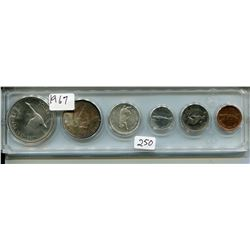 1967 CNDN 6 COINS (PENNY TO SILVER DOLLAR)