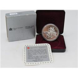 1990 SILVER DOLLAR PROOF (ROYAL CANADIAN MINT SILVER)
